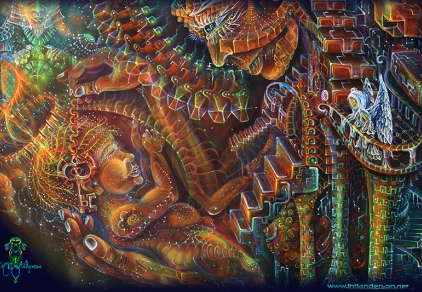 Mother temple - print on canvas