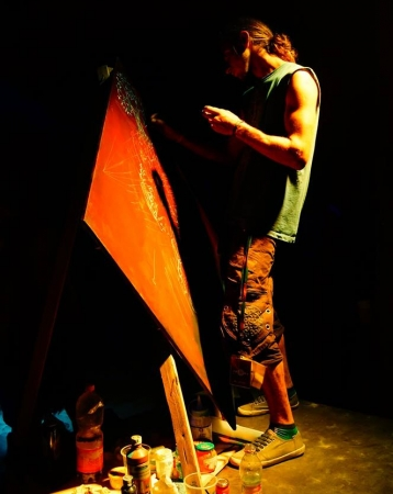"""Live painting at """"Ozora 2015 """" festival"""